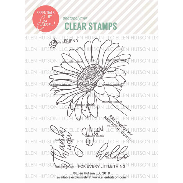 Mondo Gerbera Daisy by Julie Ebersole, Essentials by Ellen Clear Stamps -