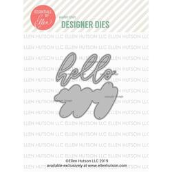 Big Scripty Hello by Julie Ebersole, Essentials by Ellen Designer Dies -