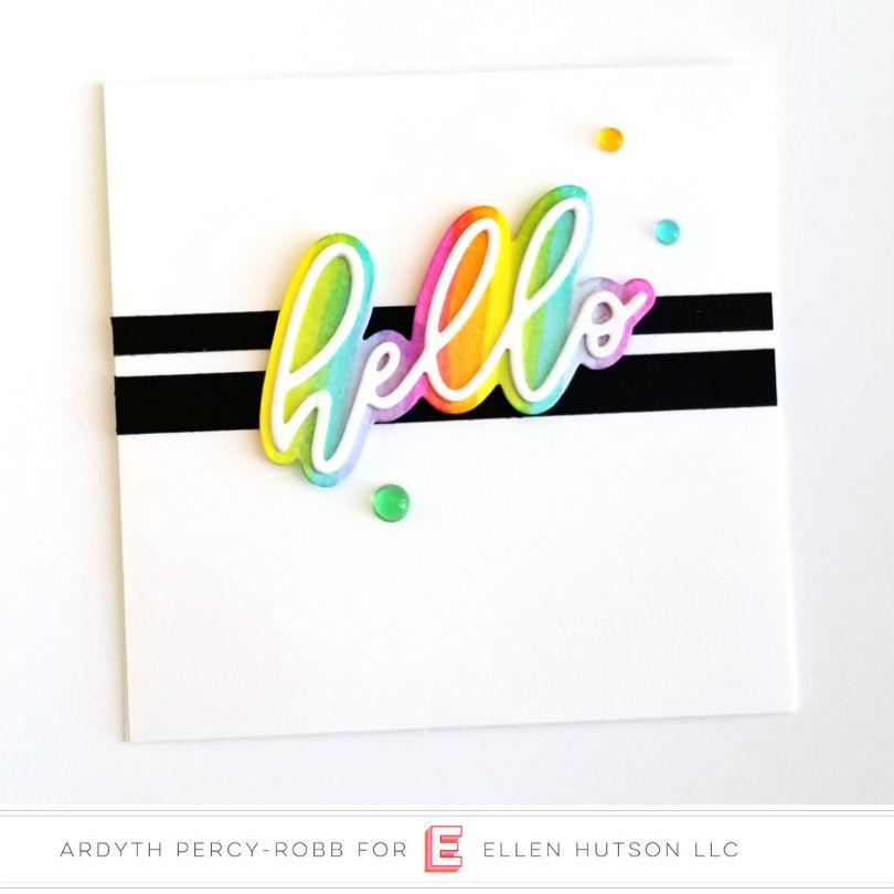 Big Scripty Hello by Julie Ebersole, Essentials by Ellen Designer Dies -