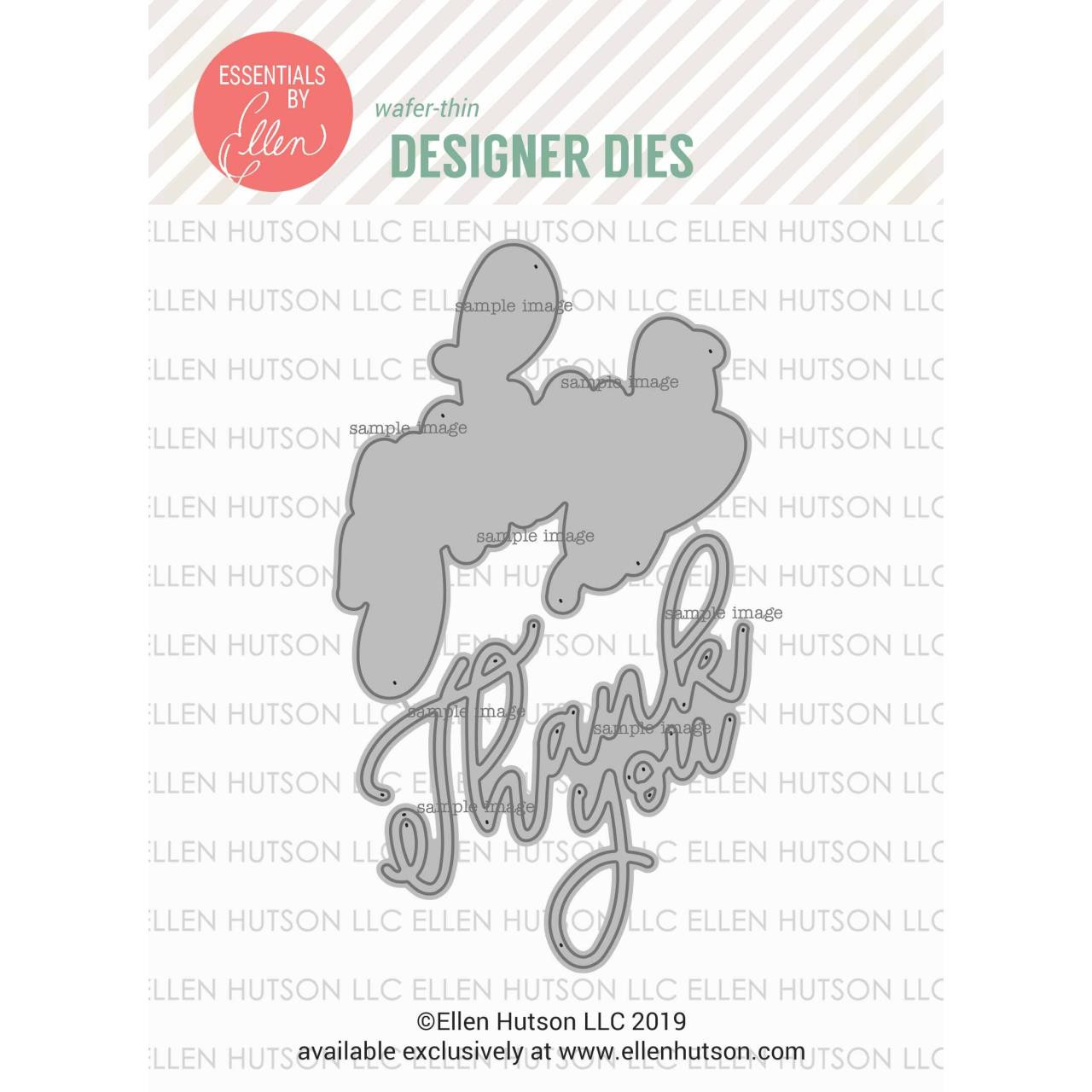 Big Scripty Thank You by Julie Ebersole, Essentials by Ellen Designer Dies -