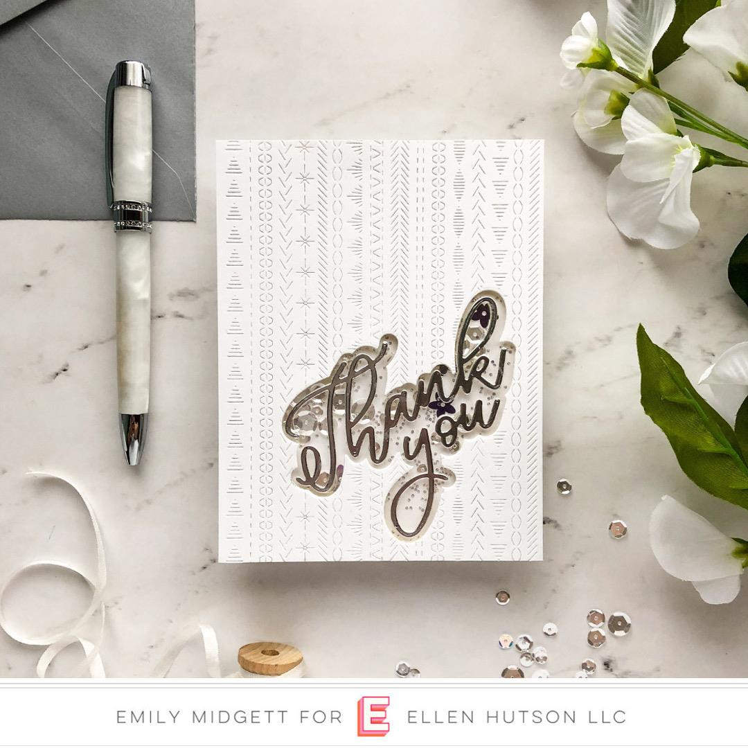 Big Scripty Thank You by Julie Ebersole, Essentials by Ellen Designer Dies -