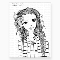 Beautiful Girls - Molly, Picket Fence Studios Clear Stamps -