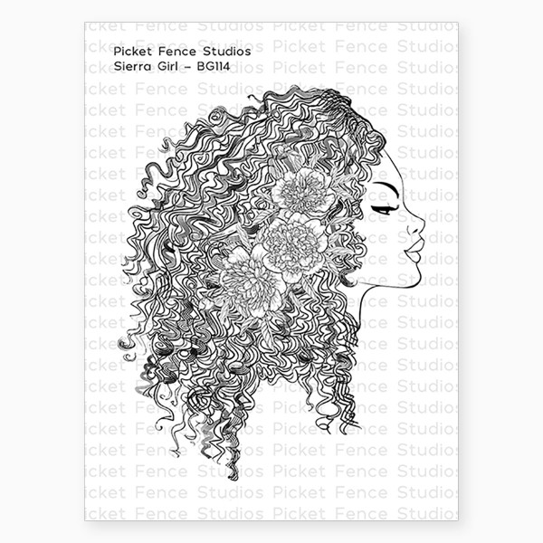 Beautiful Girls - Sierra, Picket Fence Studios Clear Stamps -