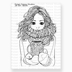 Beautiful Girls - Jill, Picket Fence Studios Clear Stamps -