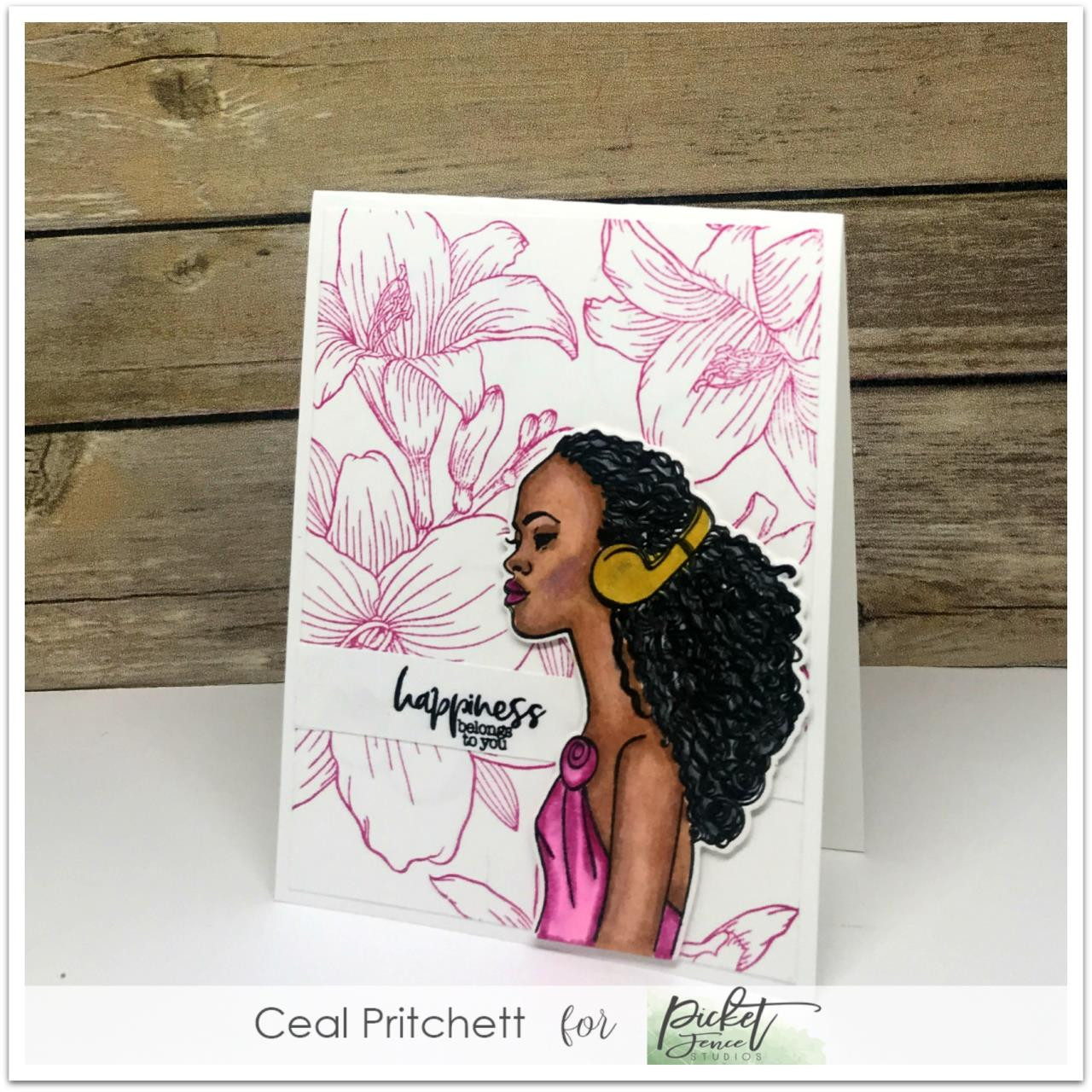 Beautiful Girls - Keisha, Picket Fence Studios Clear Stamps -