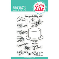 Cake For All, Avery Elle Clear Stamps -