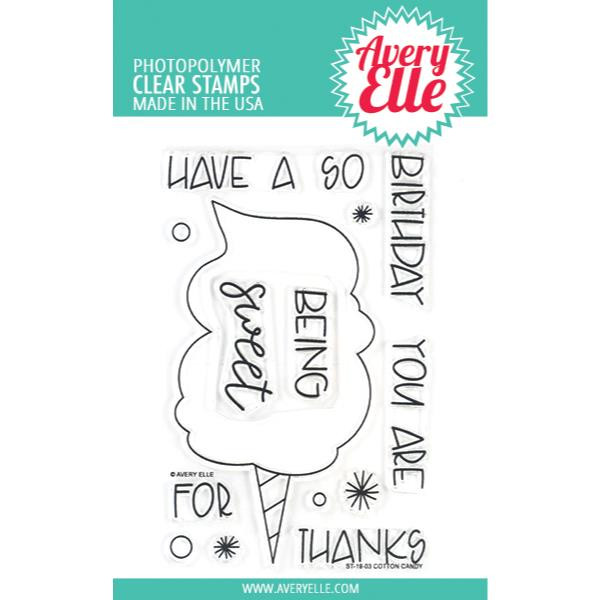 Cotton Candy, Avery Elle Clear Stamps -