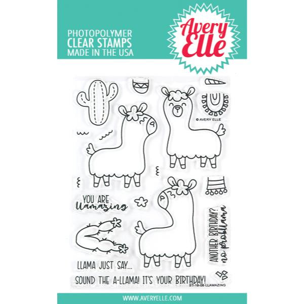 Llamazing, Avery Elle Clear Stamps -