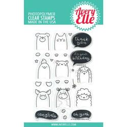 Peek-A-Boo Pets, Avery Elle Clear Stamps -