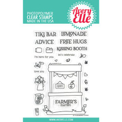 Market Stand, Avery Elle Clear Stamps -