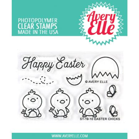 Easter Chicks, Avery Elle Clear Stamps -