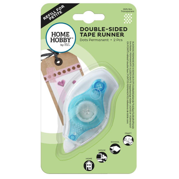 Scrapbook Adhevises Double Sided Tape Runner Petite Dots Permanent - 936160197642