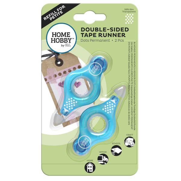 Scrapbook Adhevises Double Sided Tape Runner Petite Dots Permanent Refill - 936160197710