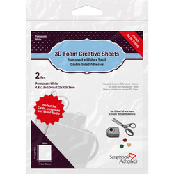 Scrapbook Adhesives 3D Foam Creative Sheets Small, White - 936160122842