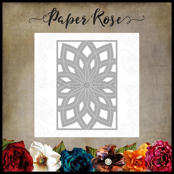 Bloom Layered Background 3, Paper Rose Dies -