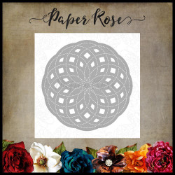 Circlet Layered Background 3, Paper Rose Dies -