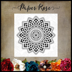Layered Mandala, Paper Rose Dies -