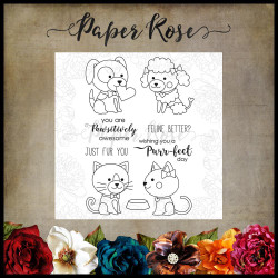 Animal Love, Paper Rose Clear Stamps -