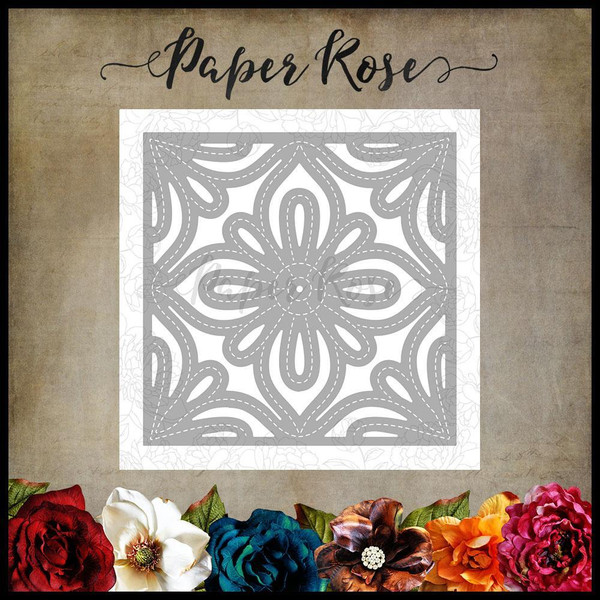 Moroccan Square Layer 2, Paper Rose Dies -