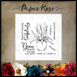 Cactus Quotes, Paper Rose Clear Stamps -