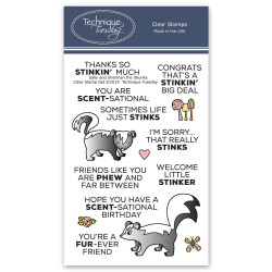 Sally & Sherman The Skunks - Animal House February 2019, Technique Tuesday Clear Stamps - 811784027646