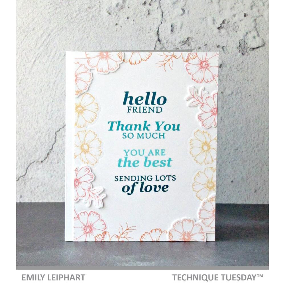 Lots Of Sentiments, Technique Tuesday Clear Stamps - 811784027608