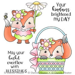 Spring Fox, Darcie's Clear Stamps -