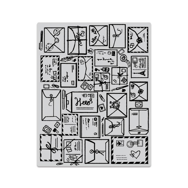 Mail Jumble Background, Hero Arts Cling Stamps - 857009204072