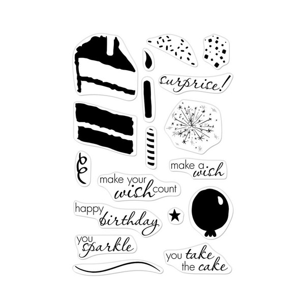 Color Layering Birthday Cake, Hero Arts Clear Stamps - 857009203396