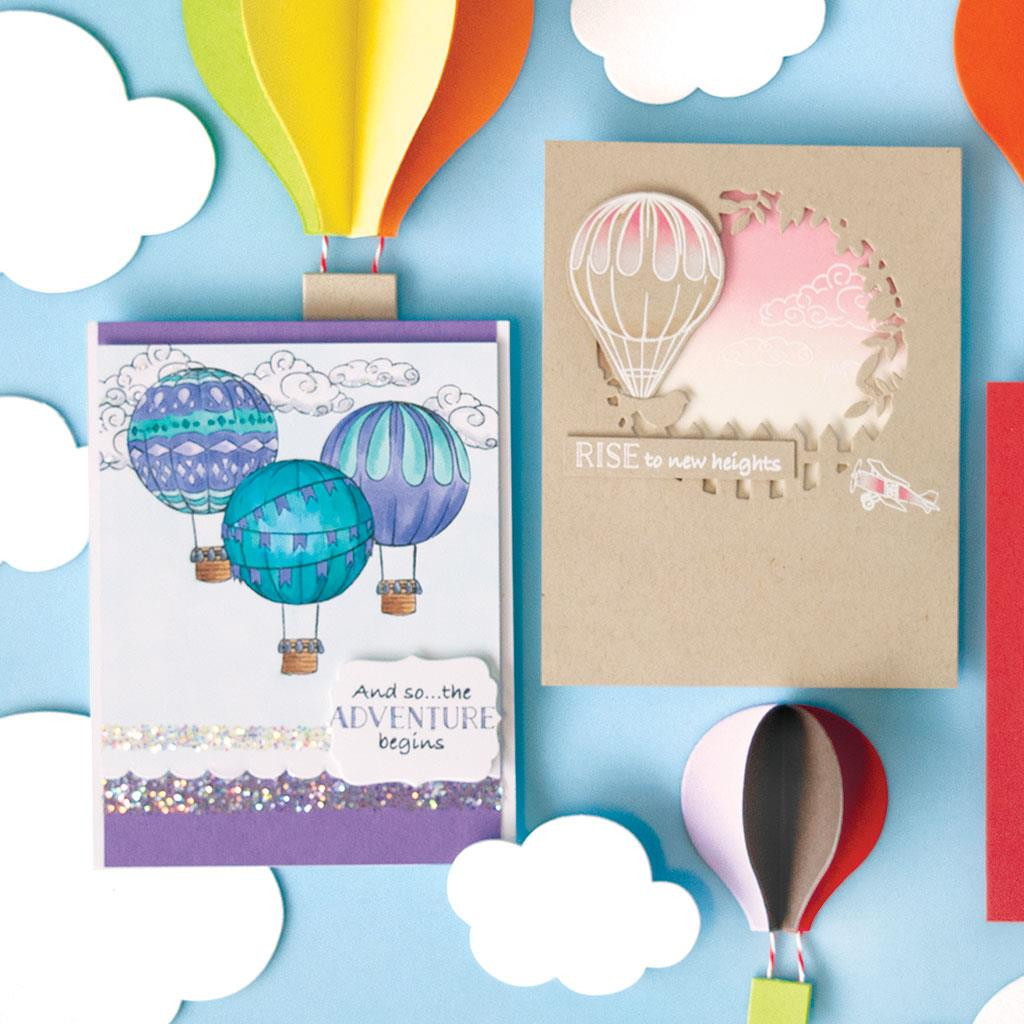 Sky's The Limit Balloons, Hero Arts Clear Stamps - 857009203532