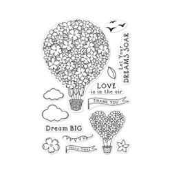 Hot Air Blooms, Hero Arts Clear Stamps - 857009205444