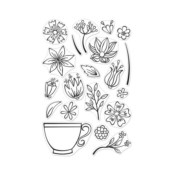 Teacup Flowers, Hero Arts Clear Stamps - 857009205680