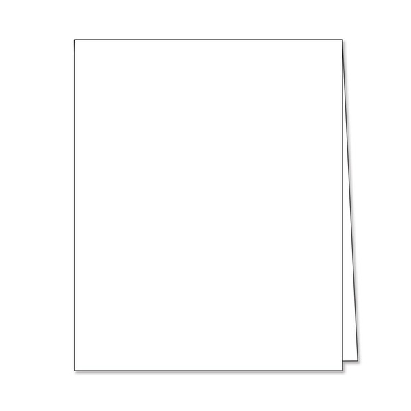 Hero Hues Dove White Top Folded Cards, Hero Arts Notecards - 857009210844