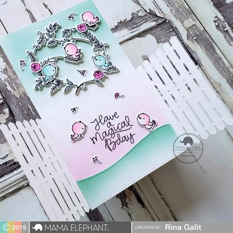 Birdie Wreath, Mama Elephant Clear Stamps -
