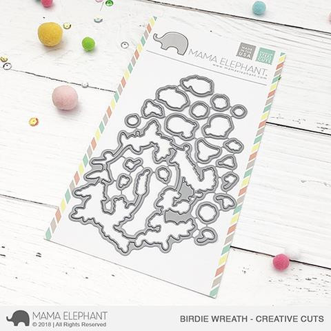 Birdie Wreath, Mama Elephant Creative Cuts -