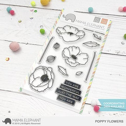 Poppy Flowers, Mama Elephant Clear Stamps -