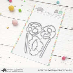 Poppy Flowers, Mama Elephant Creative Cuts -