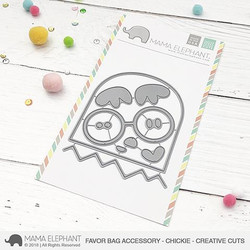 Favor Bag Accessory - Chickie, Mama Elephant Creative Cuts -