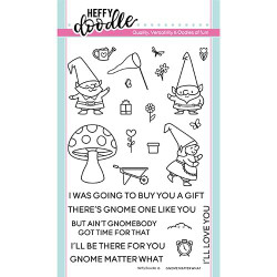 Gnome Matter What, Heffy Doodle Clear Stamps -