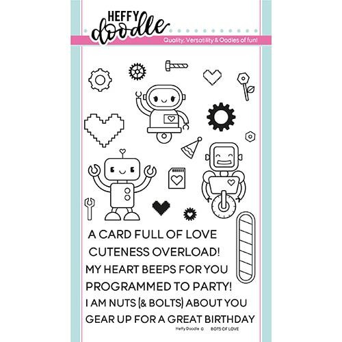Bots Of Love, Heffy Doodle Clear Stamps -