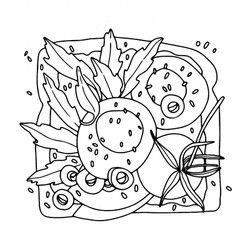 Egg & Arugula Toast, Catherine Scanlon Cling Stamps -