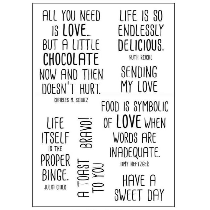 Food For Thought, Catherine Scanlon Clear Stamps -