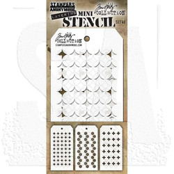 Mini Layering Stencil Set #40, Tim Holtz Stencils -