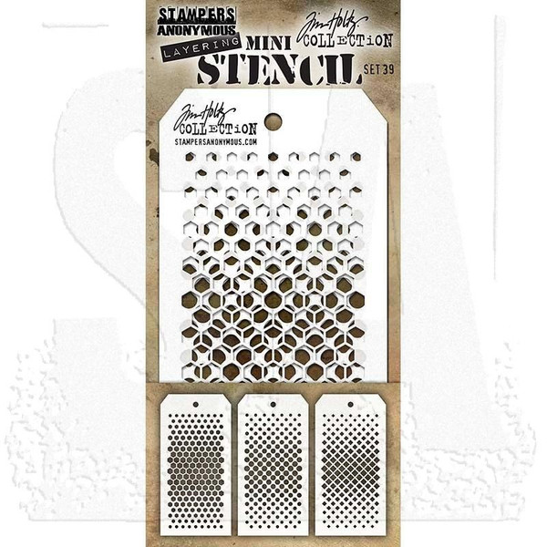 Mini Layering Stencil Set #39, Tim Holtz Stencils -