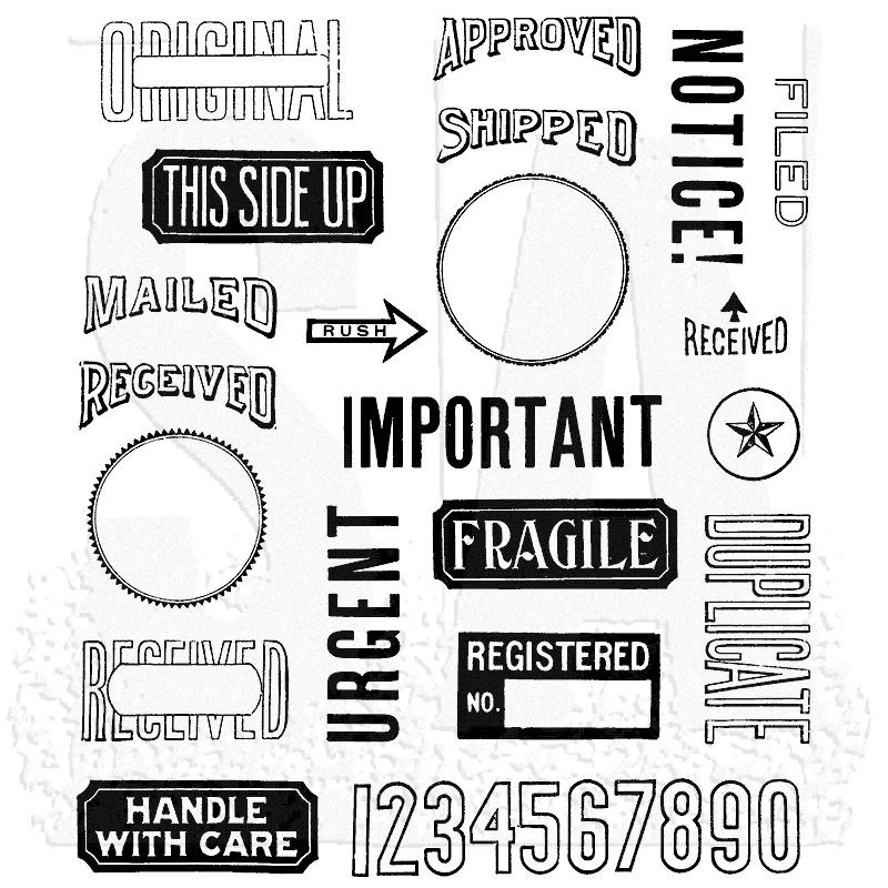 Mail Art, Tim Holtz Cling Stamps -