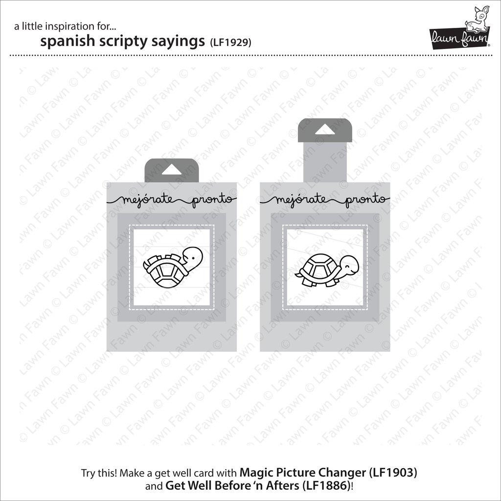 Spanish Scripty Sayings, Lawn Fawn Clear Stamps - 352926725438
