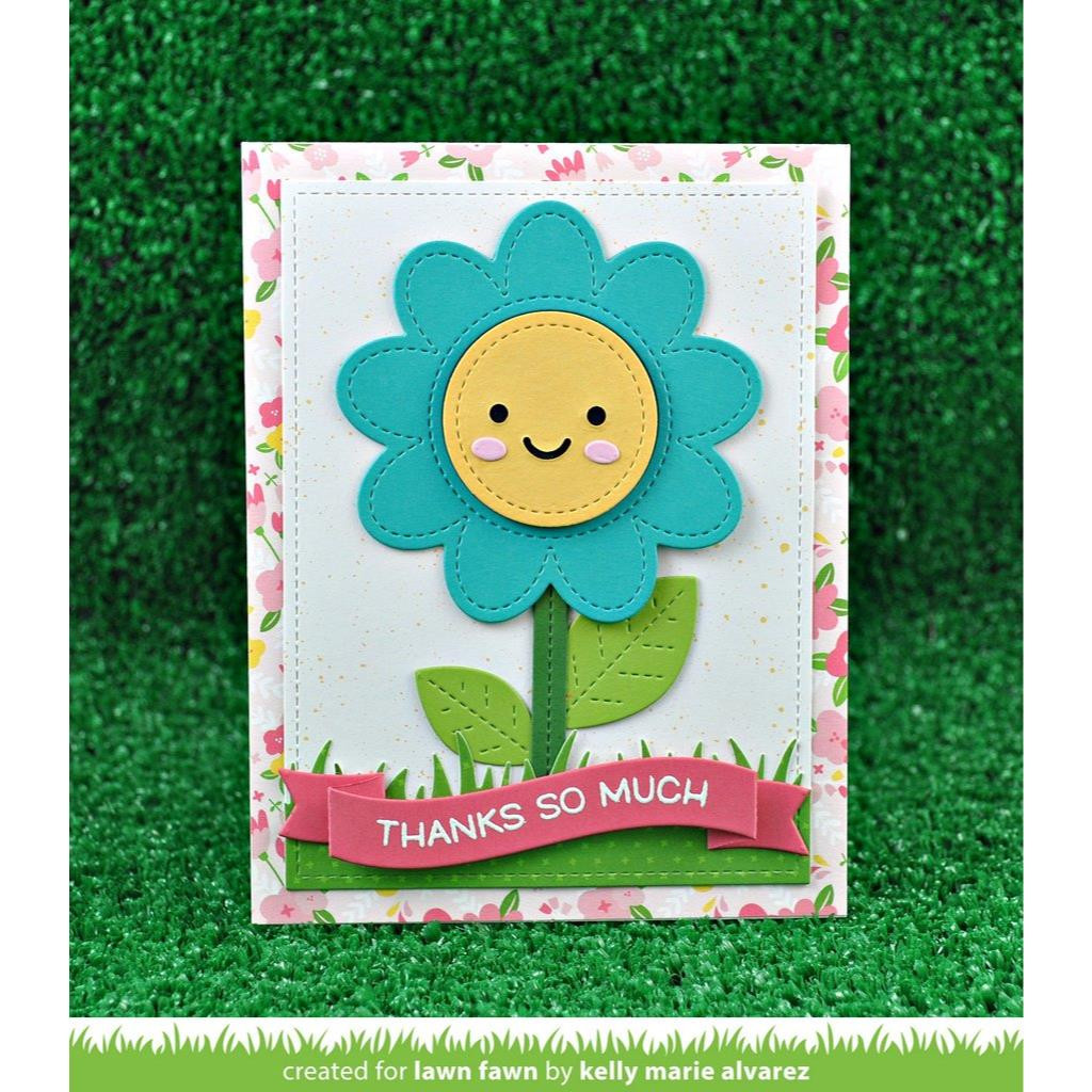 Outside In Stitched Flower, Lawn Cuts Dies - 352926724752