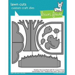 Shadow Box Card Park Add-On, Lawn Cuts Dies - 352926723212