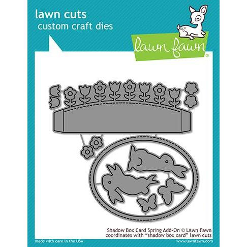 Shadow Box Card Spring Add-On, Lawn Cuts Dies - 352926723144