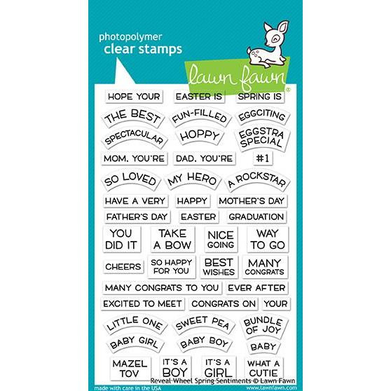 Reveal Wheel Spring Sentiments, Lawn Fawn Clear Stamps - 352926722536